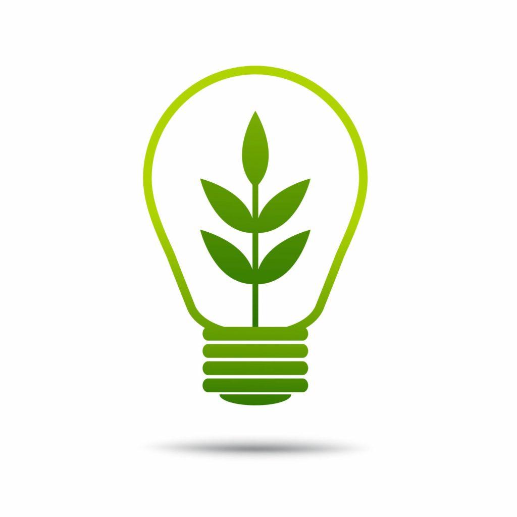 Grön glödlampa