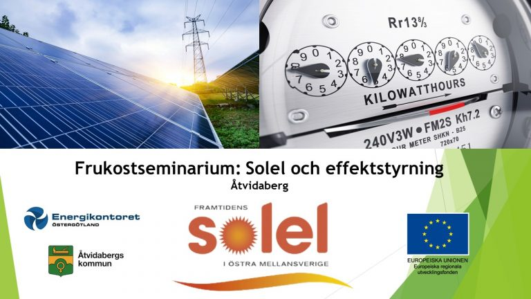 Solel Och Effektstyrning 7 Nov åtvidaberg