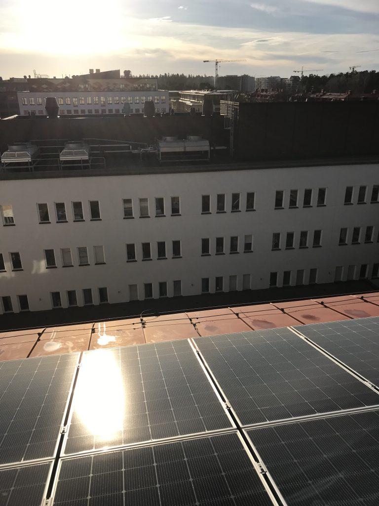Solelpaneler i Uppsala